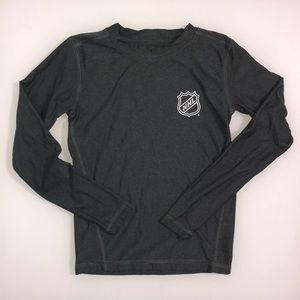 NHL Official Licensed Product Grey Long Sleeve Tee